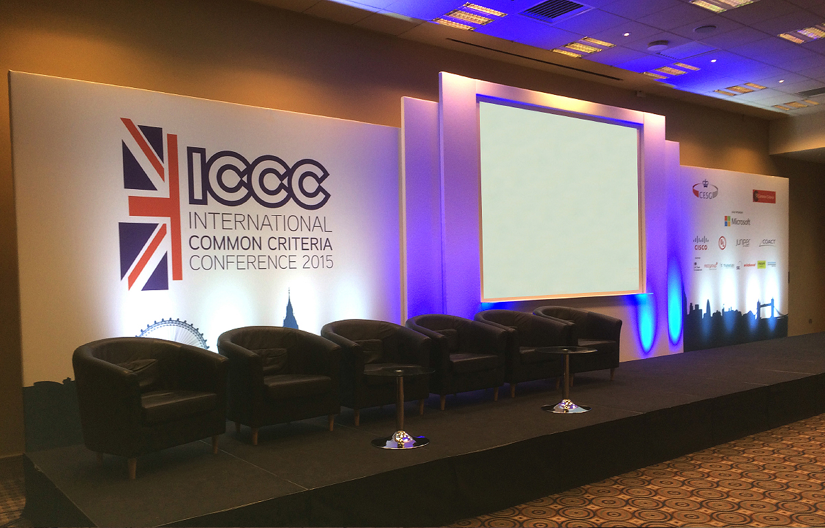 ICCC Conference stage set