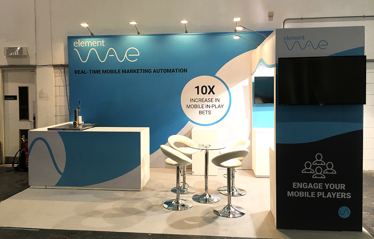 Element Wave exhibition stand.